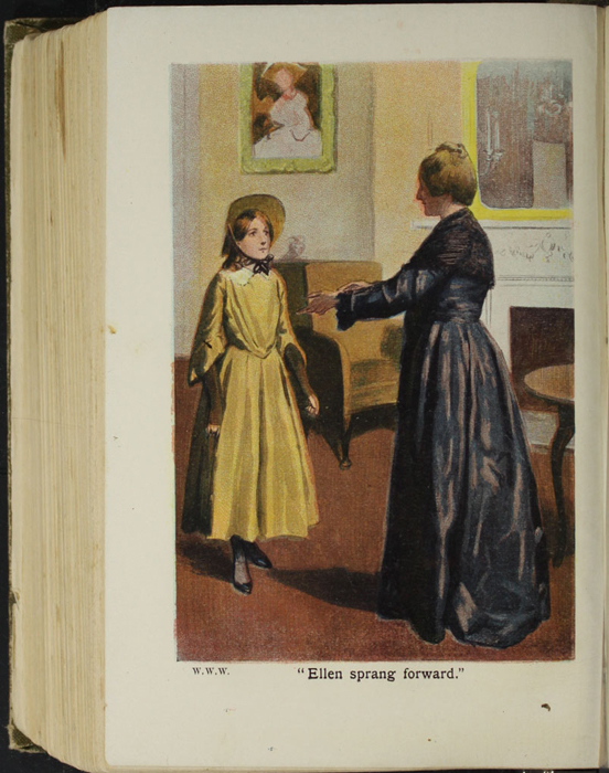 Illustration on Page 466b of the [1907] Collins' Clear-Type Press Reprint Depicting Ellen Greeting Grandmother Lindsay
