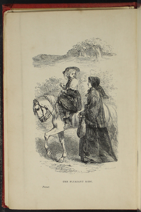 Frontispiece to the [1891] James Nisbet & Co. Reprint Depicting Ellen Riding Sharp