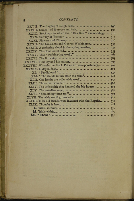 Second Page of the Table of Contents for the [1902] H. M. Caldwell Co. Reprint