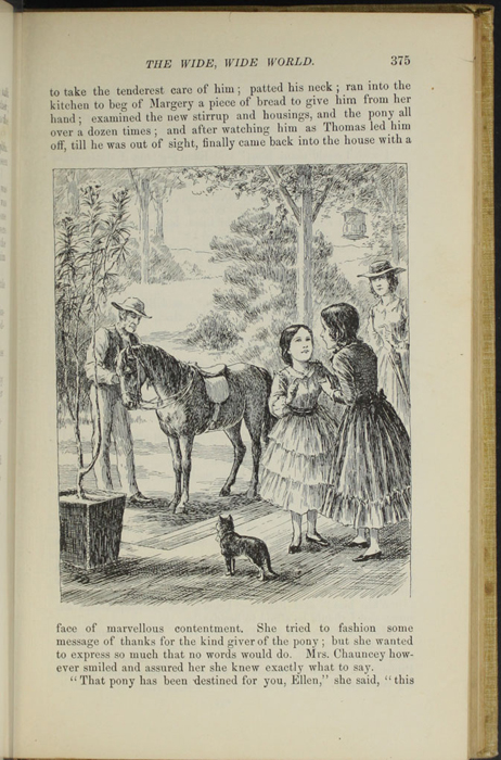 "Illustration on Page 375 of the 1892 J. B. Lippincott Co. ""New Edition"" Reprint Depicting Ellen and Margery"