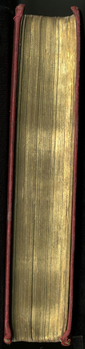 Fore Edge of the 1889 G. Bell Reprint