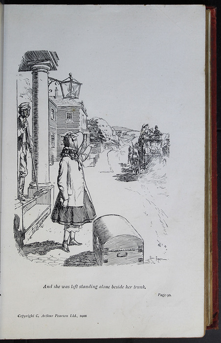 Illustration on Page 90a of the [1908] Seeley & Co. Ltd. Reprint Depicting Ellen Arriving in Thirlwall