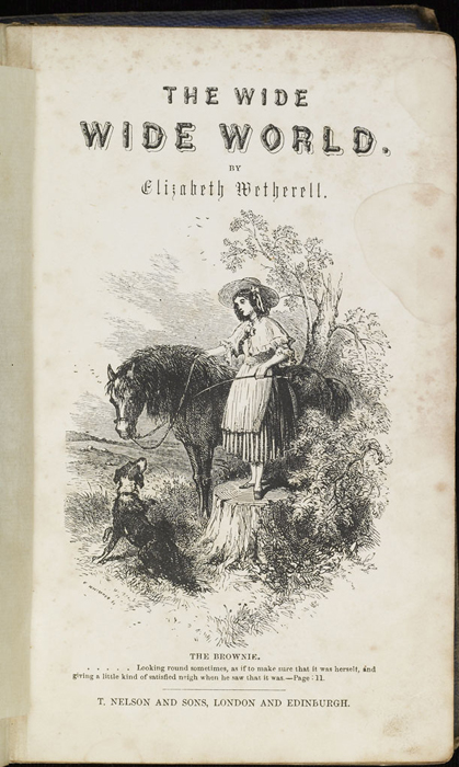 Title Page Vignette to the 1853 T. Nelson and Sons Reprint Depicting Ellen Preparing to Mount the Brownie