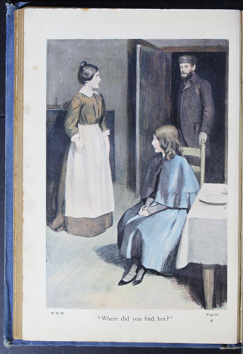 "Illustration on Page 90b of the [1910] Collins' Clear-Type Press ""The Challenge Series"" Reprint Depicting Ellen Arriving at Aunt Fortune's"