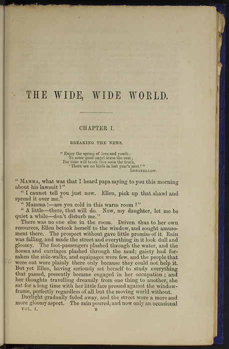 "First Page of Text in Volume 1 of the 1853 James Nisbet, Hamilton, Adams & Co. ""New Edition"" Reprint"