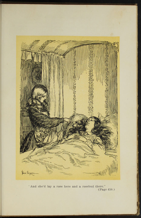 Illustration on Page 450a of the [1907] Grosset & Dunlap Reprint Depicting Ellen Standing at Alice's Deathbed