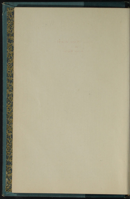 Verso of Front Flyleaf of Volume 1 of the [1902] Home Book Co. Reprint, Version 3
