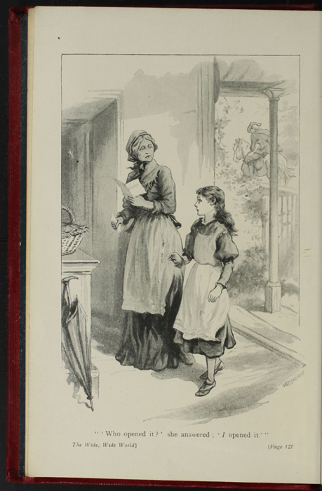 """Frontispiece to the [1902] Ward Locke & Co. Ltd. """"Complete Edition"""" Reprint Depicting Aunt Fortune Reading Ellen's Letter from Mamma"""