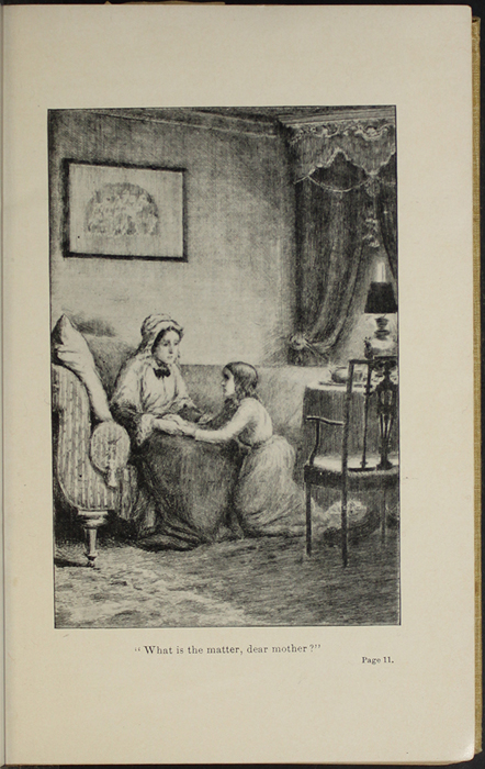 "Illustration on Page 10b of the 1892 J.B. Lippincott Co. ""New Edition"" Reprint Depicting Ellen and Mamma in the Parlour"