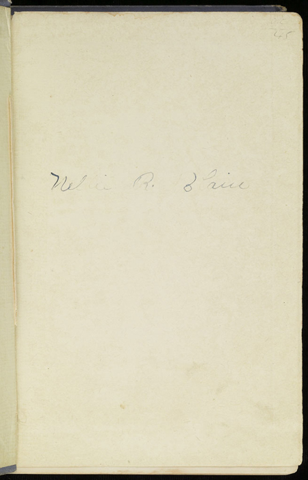 """Recto of Front Flyleaf of the [1884] Ward, Lock & Co. """"Lily Series, Complete Edition"""" Reprint"""