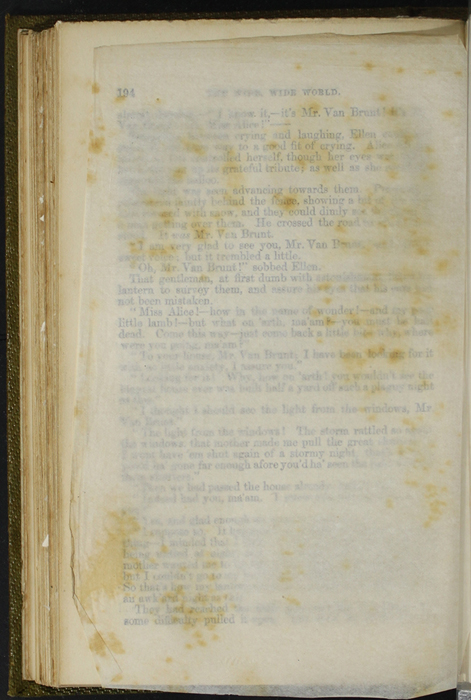 Verso of Tissue Preceding Illustration on Page 194c of the 1853 G. Routledge and Co. Reprint