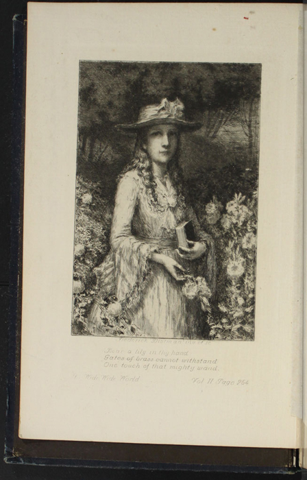 Frontispiece to the 1888 J.B. Lippincott Co. Reprint Depicting Ellen Standing in a Flower Garden