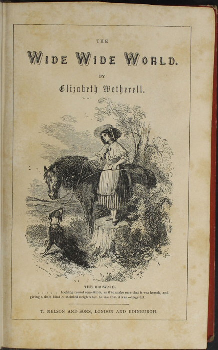 "Title Page Vignette to the 1853 T. Nelson & Sons ""Nelson's Library for Travellers and the Fireside"" Reprint Depicting Ellen Preparing to Mount the Brownie"