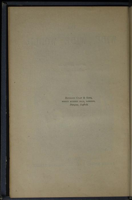 "Colophon for 1887 James Nisbet & Co. ""New ed. Golden Ladder Series"" Reprint"
