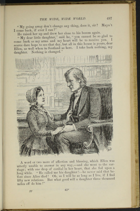 "Illustration on Page 497 of the 1892 J.B. Lippincott Co. ""New Edition"" Reprint Depicting Ellen Saying Goodbye to Mr. Humphreys"