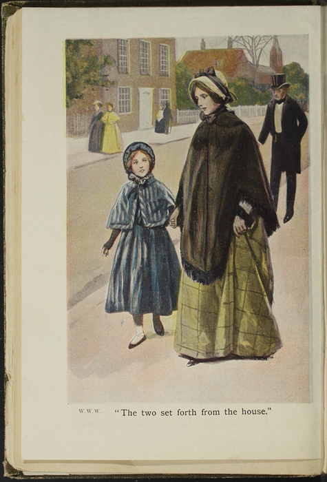 Illustration on Page 22b of the [1907] Collins' Clear-Type Press Reprint Depicting Ellen and Mamma on Their Shopping Trip