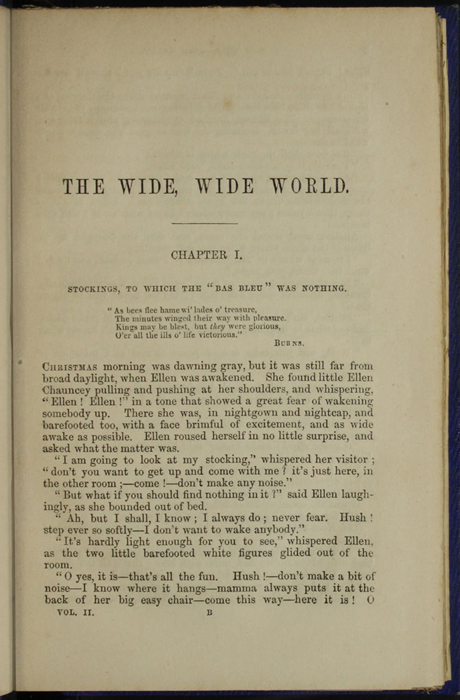 "First Page of Text in Volume 2 of the 1853 James Nisbet, Hamilton, Adams & Co. ""New Edition"" Reprint"