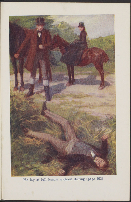 Full-Color Plate on Page 384 of the [1923] T. Nelson & Sons, Ltd., Reprint Depicting the Horse Whipping Scene