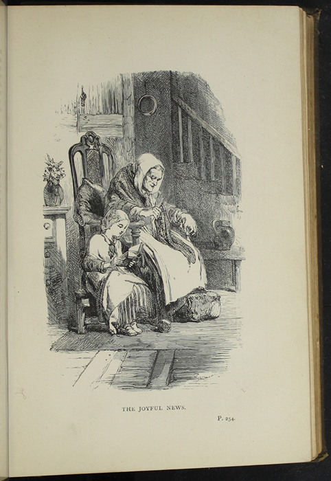 """Illustration on Page 254a of the [1891] James Nisbet & Co. """"New Edition"""" Reprint Depicting Ellen Reading to Grandma"""