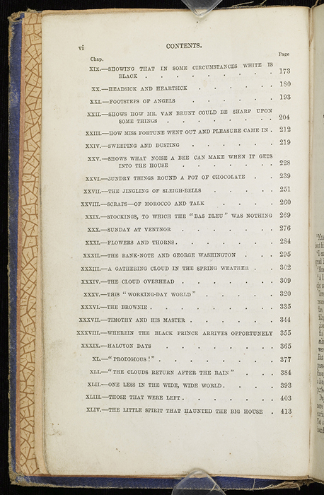 Second Page of the Table of Contents for the 1853 H. G. Bohn Reprint, Version 2