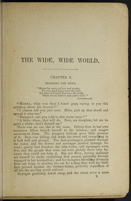 """First Page of Text in [1891] James Nisbet & Co. """"New ed."""" Reprint"""