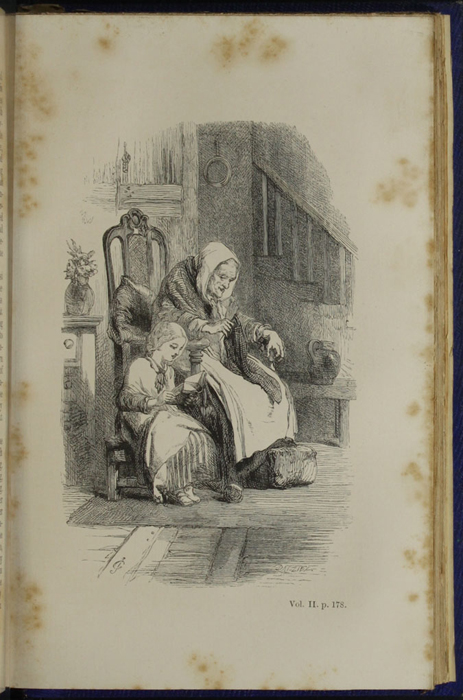 "Illustration on Page 178b of Volume 2 of the 1853 James Nisbet, Hamilton, Adams & Co. ""New Edition"" Reprint Depicting Ellen Reading to Mrs. Blockson"