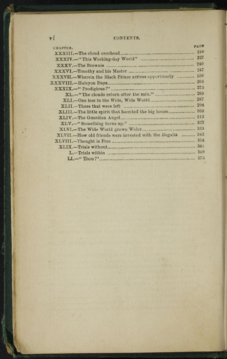 Second Page of the Table of Contents for [1879] Milner & Sowerby Reprint