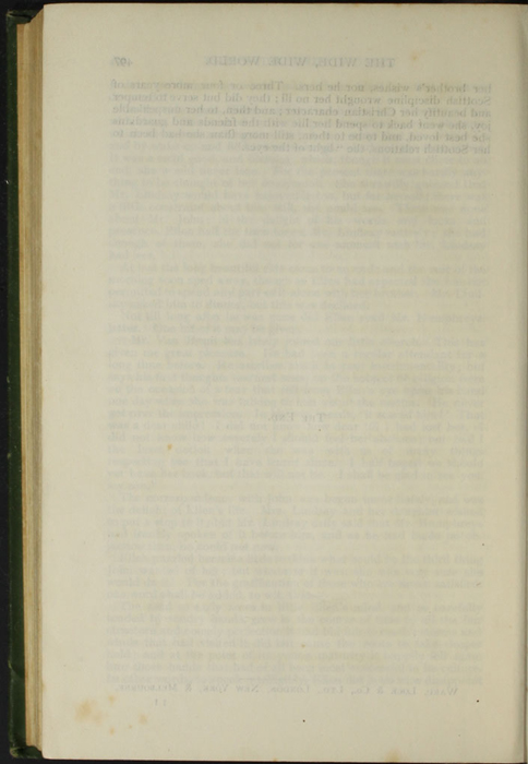 """Verso of the Last Page of Text of the  [1903] Ward, Lock, & Co., Ltd. """"Complete Edition"""" Reprint"""