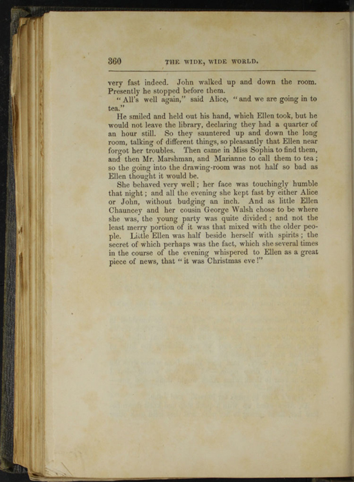 Three Hundred Sixtieth Page of Text in Volume 1 of the 1851 George P. Putnam First Edition<br /><br />