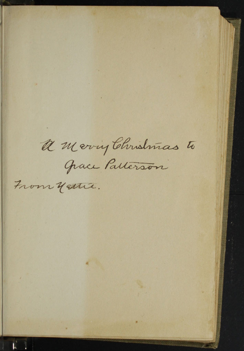 Recto of Front Flyleaf in the [1900] Hurst & Co. Reprint, Version 1