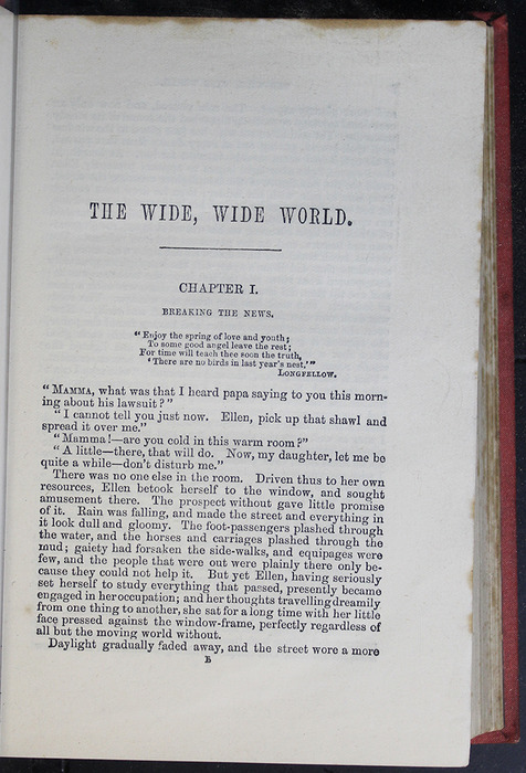 """First Page of Text in the 1879 James Nisbet & Co. """"Golden Ladder Series"""" Reprint"""