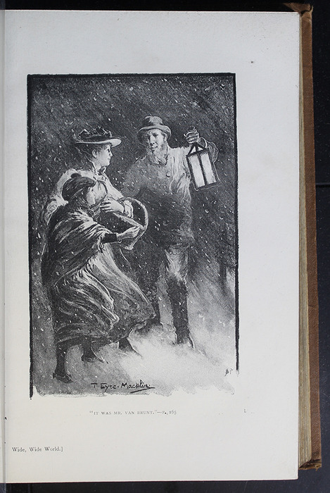 Illustration on Page 168a of the [1896] The Walter Scott Publishing Co. Ltd. Reprint Depicting Mr. Van Brunt Finding Ellen and Alice in the Snow Storm