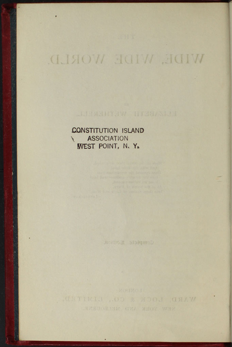 """Verso of Title Page to the [1902] Ward, Lock, & Co., Ltd. """"Complete Edition"""" Reprint"""
