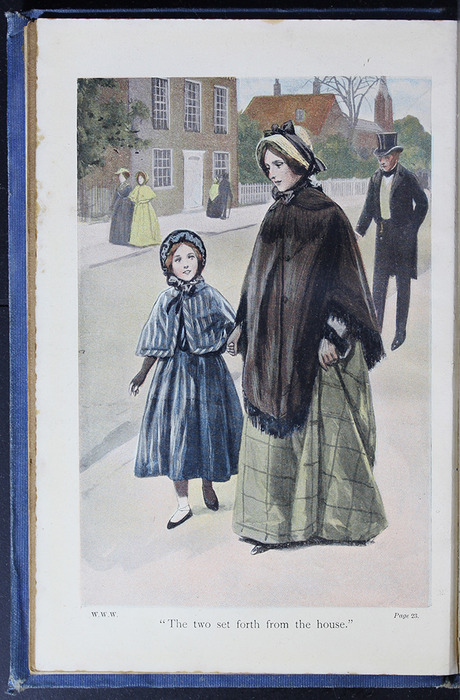 "Illustration on Page 22b of the [1910] Collins' Clear-Type Press ""The Challenge Series"" Reprint Depicting Ellen and Mamma on Their Shopping Trip"
