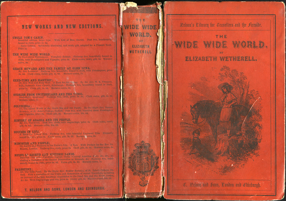 "Full Cover of the 1853 T. Nelson and Sons ""Nelson's Library for Travellers and the Fireside"" Reprint"