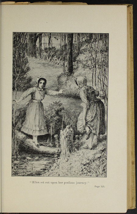 "Illustration on Page 124a of the 1892 J. B. Lippincott Co. ""New Edition"" Reprint Depicting, Ellen and Nancy at the Brook"
