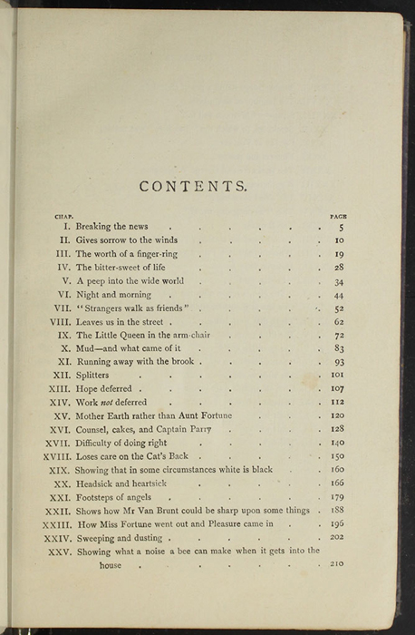 "First Page of the Table of Contents for the  [1904] The Walter Scott Publishing Co. Ltd. ""Complete ed."" Reprint"