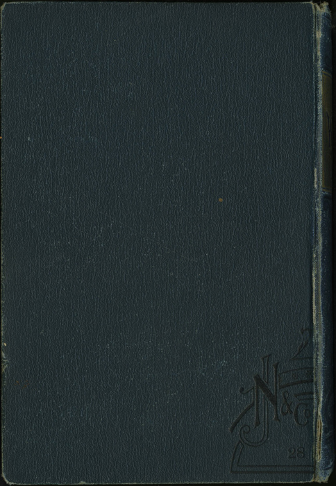 Back Cover of the [1893] James Nisbet & Co. Reprint