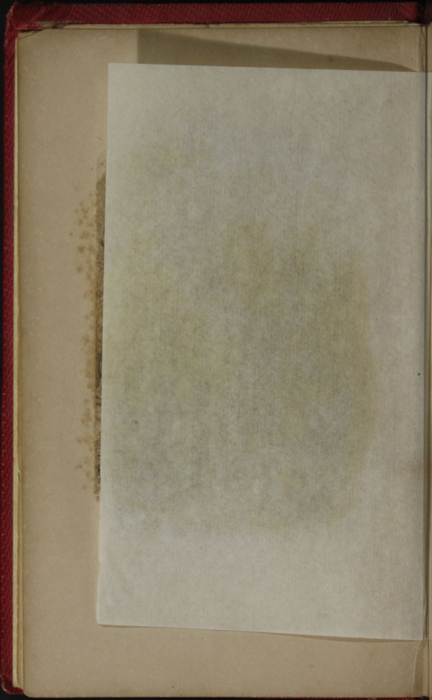 Verso of Tissue Preceding the Title Page Vignette of the 1852 T. Nelson & Sons Reprint, Version 1