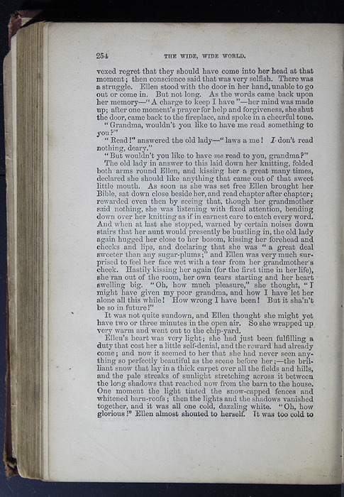 """Verso of Page Preceding Illustration on Page 254 of the 1886 James Nisbet & Co. """"New Edition"""" Reprint"""