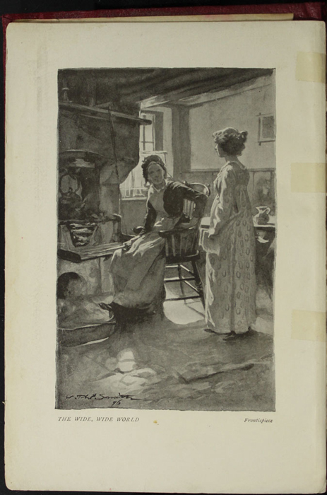 Frontispiece to the [1896] Bliss, Sands, & Co. Reprint Depicting Ellen Confronting Aunt Fortune for Reading Mamma's Letter