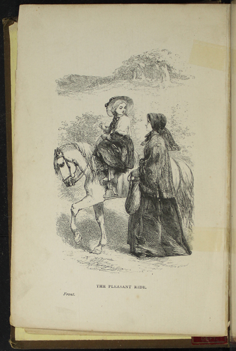 """Frontispiece to the [1891] James Nisbet & Co. """"New Edition"""" Reprint Depicting Ellen Riding Sharp"""
