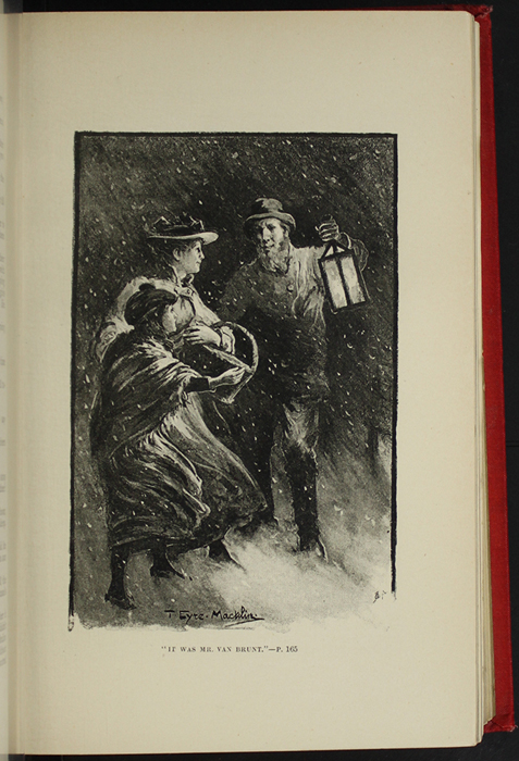 "Illustration on Page 168b of the [1896] Walter Scott Ltd. ""Complete Edition"" Reprint Depicting Mr. Van Brunt Finding Ellen and Alice in the Snow Storm"
