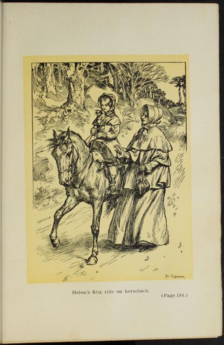 Illustration on Page 184a of the [1907] Grosset & Dunlap Reprint Depicting Ellen Riding Sharp