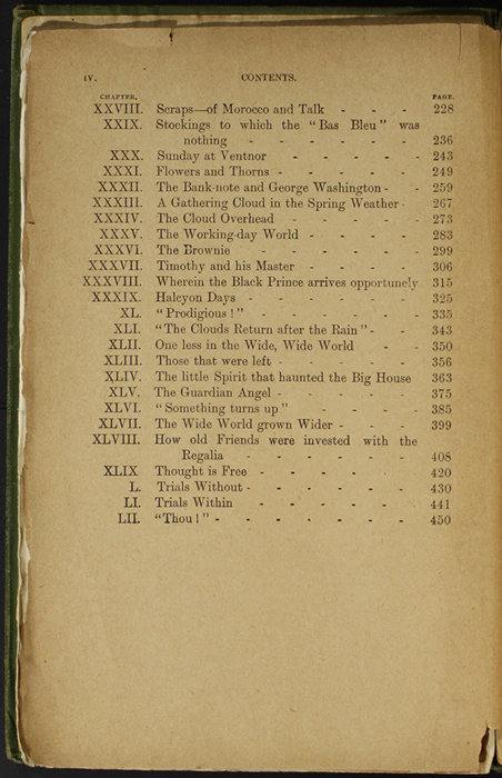 Second Page of the Table of Contents for the [1904] S. W. Partridge & Co. Reprint