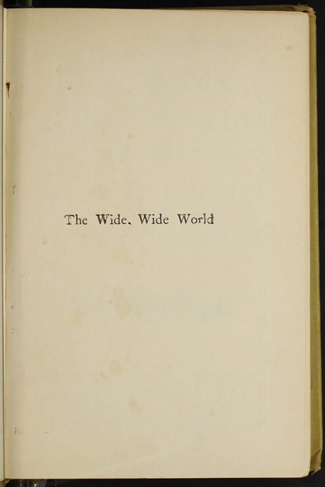 Half-Title Page to the [1907] Grosset & Dunlap Reprint, Version 3