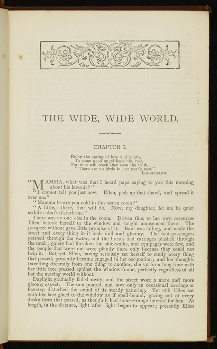 """First Page of Text in the [1877] Ward, Lock & Co. """"Good Tone Library, Complete Edition"""" Reprint"""