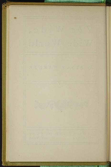 Verso of Title Page to the [1907] Grosset & Dunlap Reprint, Version 3