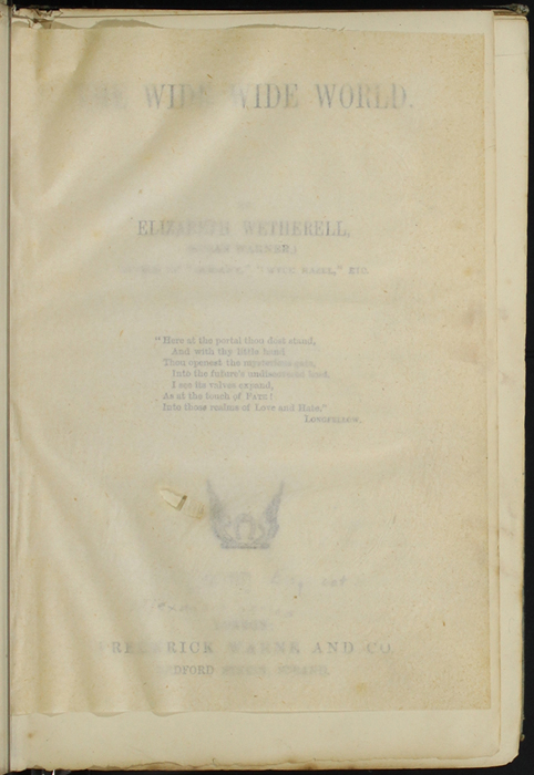 Recto of Tissue Preceding Title Page of [1890] Frederick Warne & Co. Reprint