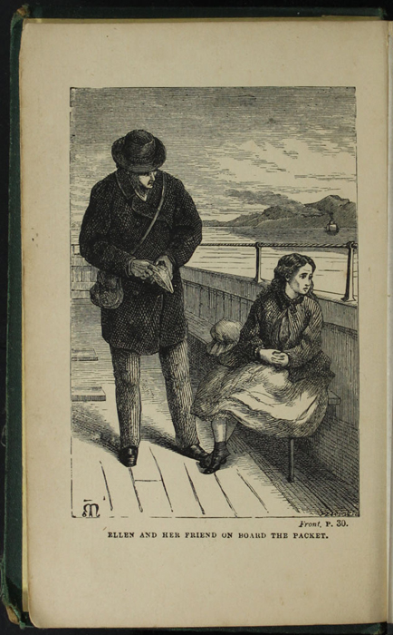 Frontispiece to the [1879] Milner & Sowerby Reprint Depicting  Ellen Meeting George Marshman on the Steamboat